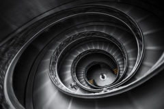 Vatican staircase in Rome. With a dynamic motion blur Stock Images