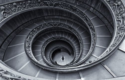 Vatican steps. Famous oval stairs near the exit of Vatican Museums Royalty Free Stock Photo