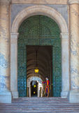 Vatican. Swiss guard at the Vatican Stock Photography