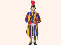 Vatican Swiss Guardsman. Royalty Free Stock Image