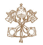 Vatican symbol. S DESIGNED  hand draw Royalty Free Stock Photography