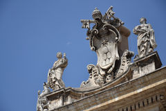 Vatican symbol at St. Peter's Basilica Stock Images