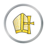 Vatican symbols icon in cartoon style isolated on white background. Italy country symbol stock vector illustration. Royalty Free Stock Images