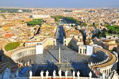 Vatican top view Royalty Free Stock Photo