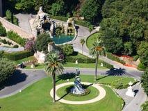 Vatican trädgårdar, Rome, Italien Royaltyfria Bilder