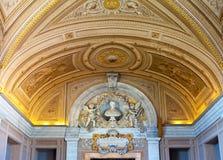 Vatican. Un museo. Un corridoio del papa Leo XIII Fotografia Stock Libera da Diritti