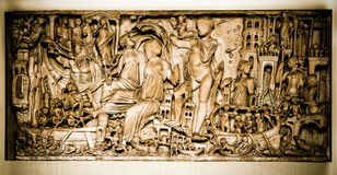 Vatican, une sculpture - bas-relief Photo stock