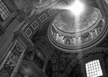 The Vatican, Vatican City, Rome, Italy, St. Peter's Catholic Church. Sun comes through St. Peter's Cathedral in the Vatican Stock Photography