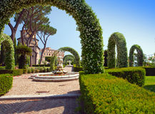 Vatican. A Vatican garden. Landscape in a sunny day Stock Images