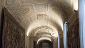 Vatican Vaulted Ceiling Fresco - Rome Stock Photo