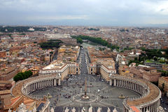Vatican View. The View from the Dome of St. Peter's Basilica Stock Photo