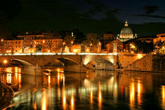 Vatican view at night. Royalty Free Stock Photography