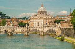 Vatican. View at The Vatican from Roma Stock Photo