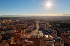 Vatican view of Rome from St. Peter's Basilica Stock Photography