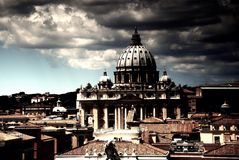 Vatican. View of Saint Paul's Cathedral Stock Image
