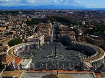 Vatican wonderful view royalty free stock photography
