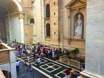 Vaticanen - ett heligt ställe, hjärtan av kristen kultur och religion arkivbilder
