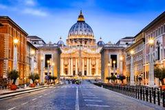 Vaticanen påvlig basilika - Rome, Italien arkivbild
