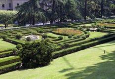 VATICANEN SEPTEMBER 20: landskap på Vaticanenträdgårdarna på September 20, 2010 i Vaticanen, Rome, Italien Arkivbilder