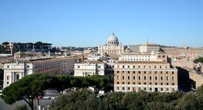 Vaticanencityscape arkivfoto