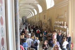 Vaticanenmuseer och Sistine kapell arkivbilder