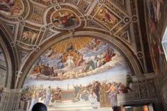 Vaticanenmuseer och Sistine kapell Royaltyfri Fotografi