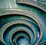 Vaticanenmuseum, spiral trappa Royaltyfria Foton