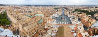 Vaticanenpanorama Arkivfoton