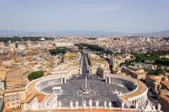VaticanenSts Peter fyrkant från höjden av domkyrkan 001 Royaltyfri Foto