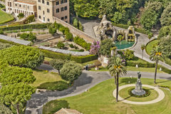 Vaticanenträdgårdar Arkivbild