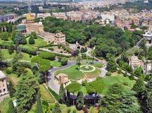 Vaticanenträdgårdar Arkivfoto