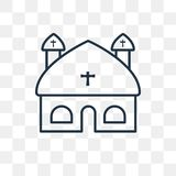 Vaticanenvektorsymbol på genomskinlig bakgrund, linjärt V vektor illustrationer