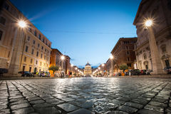 Vaticano. The lights of the Vatican summon dusk Royalty Free Stock Image