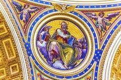 Vaticano Roma Itália da basílica do ` s de Matthew Mosaic Saint Peter de Saint imagens de stock