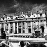 Vatikaan B&W Stock Foto