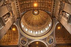 Vatikaan binnen de Koepel Rome van Michelangelo Stock Fotografie