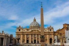 vatikaan Het Vierkant van heilige Peter stock afbeeldingen