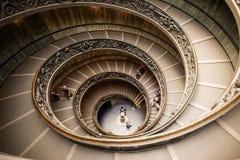 VATIKAAN - MAART 20: Spiraalvormige treden van de Musea van Vatikaan Royalty-vrije Stock Afbeeldingen
