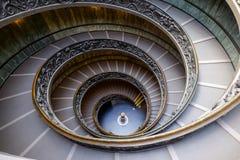 VATIKAAN - MAART 20: Spiraalvormige treden van de Musea van Vatikaan in Va Royalty-vrije Stock Afbeelding