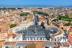 Vatikaan, Piazza San Pietro, Rome, Italië Royalty-vrije Stock Foto's
