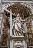 VATIKAAN - SEPTEMBER 25: Binnenland van Heilige Peters Basilica Stock Foto's