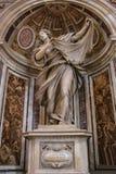 VATIKAAN - SEPTEMBER 25: Binnenland van Heilige Peters Basilica Royalty-vrije Stock Foto's