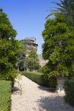 VATIKAAN 20 SEPTEMBER: De toren van heilige Ioann in het Vatikaan tuiniert op 20 September, 2010 in Vatikaan, Rome, Italië Stock Afbeeldingen