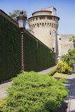 VATIKAAN 20 SEPTEMBER: De toren van heilige Ioann in het Vatikaan tuiniert op 20 September, 2010 in Vatikaan, Rome, Italië Stock Foto