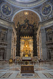 Innenraum von St Peter Kathedrale, Vatikanstadt. Italien Lizenzfreie Stockbilder