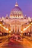 Vatikan an der Dämmerung Lizenzfreies Stockbild