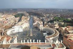 Vatikan, St Peter Quadrat Stockbilder