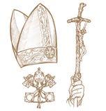 Vatikan-Symbole Stockfoto