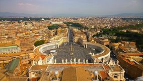 Vatikan und das Rom, Italien Heiligespeters Quadrat Stockfotos