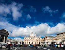 Vatikanstadt, St Peter u. x27; s-Kathedrale Lizenzfreies Stockbild